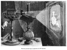 A projecting praxinoscope, 1882