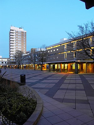 Lancaster University - Alexandra Square with Bowland Tower (2009)