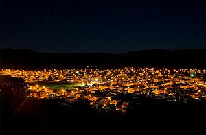Lanco, Chile - Lanco at night