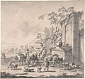 Landscape with Herdsmen, Sheep and Cows Around a Fountain MET DP801850.jpg