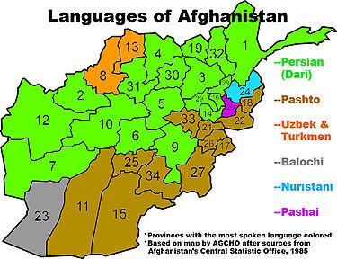 kart over afghanistan Afghanistans demografi – Wikipedia kart over afghanistan