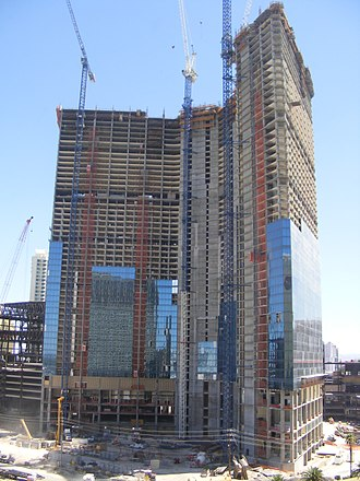 The Drew Las Vegas - The Fontainebleau during construction in 2008