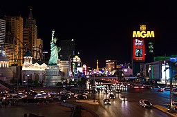 Las Vegas Strip in the evening
