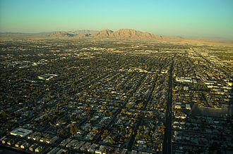 Paradise, Nevada - Neighborhoods on the east side of Paradise