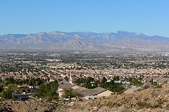 Sunrise Manor, Nevada - View of Sunrise Manor from Frenchman Mountain with North Las Vegas in the distance