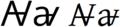 Latin alphabet AV with horizontal bar.png