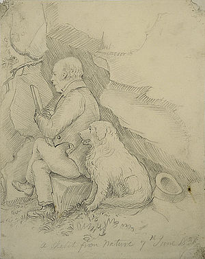 John Thomson of Duddingston - Thomson sketched whilst working outdoors by his friend, Thomas Dick Lauder, 1831, National Gallery of Scotland