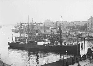 Maersk - The SS ''Laura'' in Svendborg, Denmark