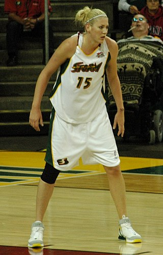 Lauren Jackson, one of the most notable players in WNBA history. Number 15 was retired by Seattle Storm in her honour. Lauren Jackson 2a.JPG