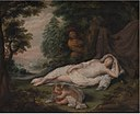 Laurentius de Neter - Sleeping Nymph Watched by a Man - KMS1521 - Statens Museum for Kunst.jpg