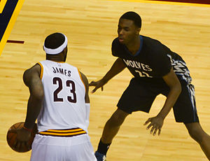 Andrew Wiggins - Wiggins guarding LeBron James in December 2014