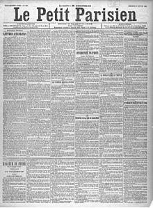 Uno de losPetit Parisiendel27deenero de 1897, ante un editorial de Laisant, bajo el seudónimo deJean Frollo.