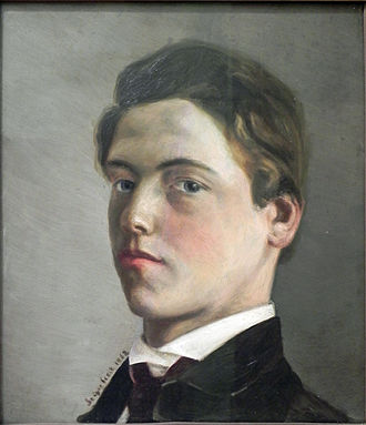 Wilhelm Leibl - Self-portrait at the age of eighteen