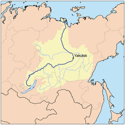 Lena River Map Lena River   Simple English Wikipedia, the free encyclopedia Lena River Map