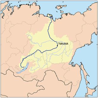 Vitim River - Image: Lena watershed