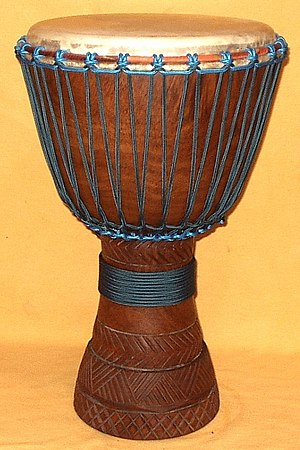 Lenke wood djembe from Mali