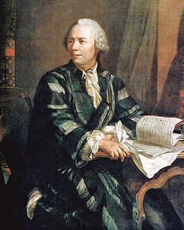 Leonhard Euler on Retrato De Leonhard Euler  Autoria De Johann Georg Brucker