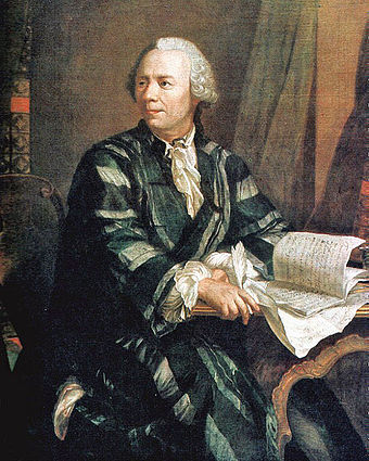 Leonhard Euler created and popularized much of the mathematical notation used today. Leonhard Euler 2.jpg