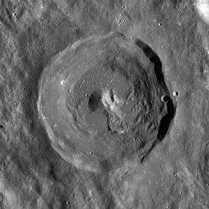 Leuschner (crater) - Image: Leuschner crater WAC