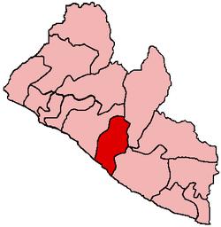 Location in Liberia