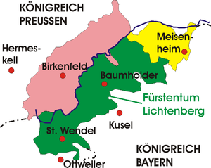 Principality of Lichtenberg - Principality of Lichtenberg (in green)