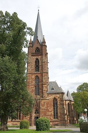 Frankenberg, Hesse - Liebfrauenkirche with park