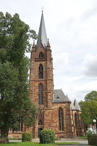 Frankenberg, Hesse - Liebfrauenkirche with park