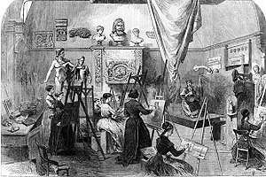 Royal Female School of Art - Life class at the Royal Female School of Art, 1868