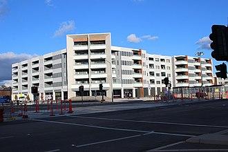 Harrison, Australian Capital Territory - Light rail construction on Flemington Road, Harrison