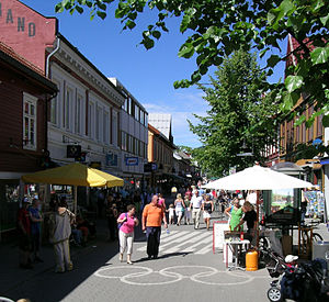 Lillehammer - Storgata shopping area