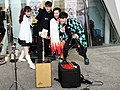 Lily Cao, Boy, Allen Hung and Chang Chih-chi taking group selfies 20201108a.jpg