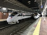 "Limited Express ""Kamome"" and ""Sonic"" at Hakata Station.jpg"