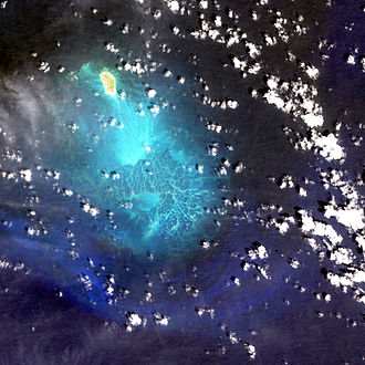 Lisianski Island - A satellite image of the Neva shoal