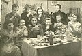 Lithuanian political prisoners (deportees) near Christmas table in Igarka, Russia, 1957.jpg