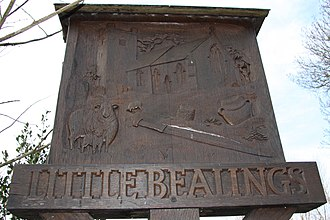 Little Bealings - Image: Little Bealings Sign