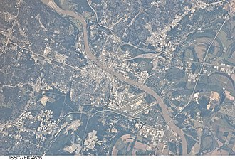 Little Rock, Arkansas - 2011 astronaut photograph of Little Rock, Arkansas taken from the International Space Station (ISS)
