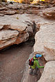 Little Wild Horse Canyon - going around the dry falls (4052920313).jpg