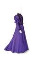 Liv och kjol. Av gredelin sidenrips med garnering av mörkgredelin silkessammet - Hallwylska museet - 89256.tif
