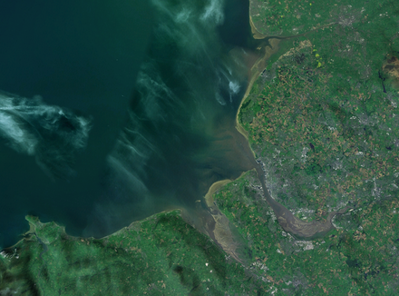 Satellite imagery showing Liverpool Bay, Liverpool and the wider Merseyside area Liverpool Bay.png