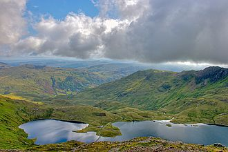 Snowdonia - View of Llyn Llydaw from Crib Goch