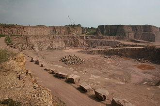 Rhyolite - Rhyolite quarry, Löbejün, Saxony-Anhalt