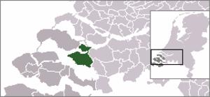 Sint-Maartensdijk - Image: Locatie Tholen