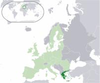 Greece (dark green) / European U...