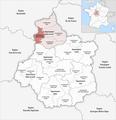 Locator map of Arrondissement Nogent-le-Rotrou 2019.png