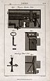 Locks; details of two types of lock. Engraving by Mutlow and Wellcome V0024305ER.jpg