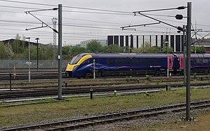 Old Oak Common railway station - Image: London MMB E5 Old Oak Common TMD 180106