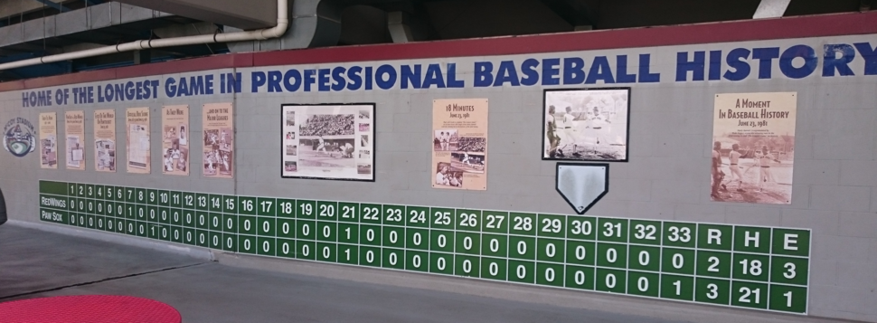 Longest game in professional baseball history - line score