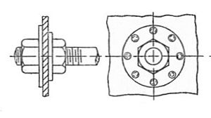Boiler stay - Image: Longitudinal boiler stay (Bentley, Sketches of Engine and Machine Details)