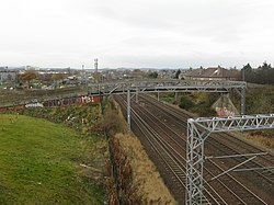 Looking west from the tramway bridge at Stenhouse (geograph 3765542).jpg