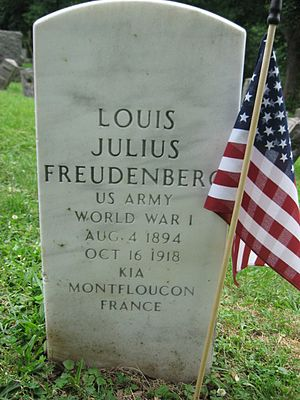 Flower Hill Cemetery (North Bergen, New Jersey) - Image: Louis Julius Freudenberg I (1894 1918) tombstone